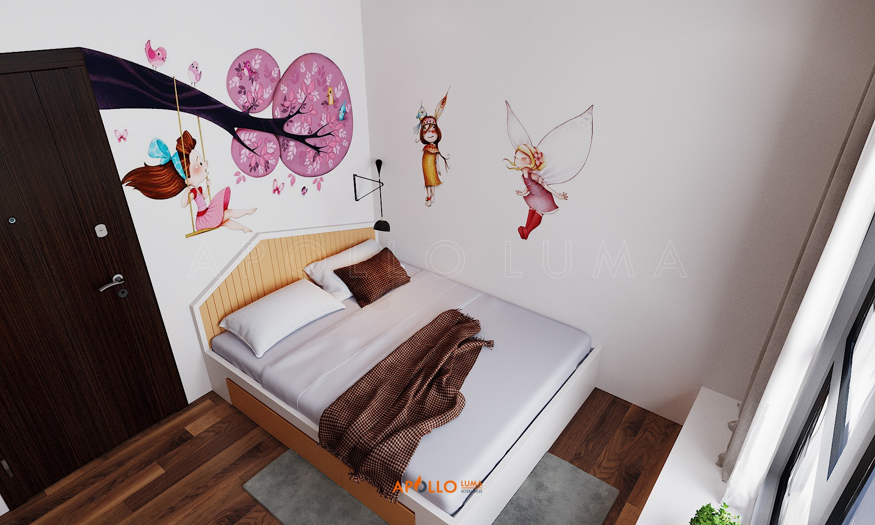 Thiết kế nội thất căn 3PN (104.44m2) Hinode City 201 Minh Khai