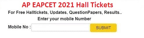 AP EAPCET Hall Ticket 2021