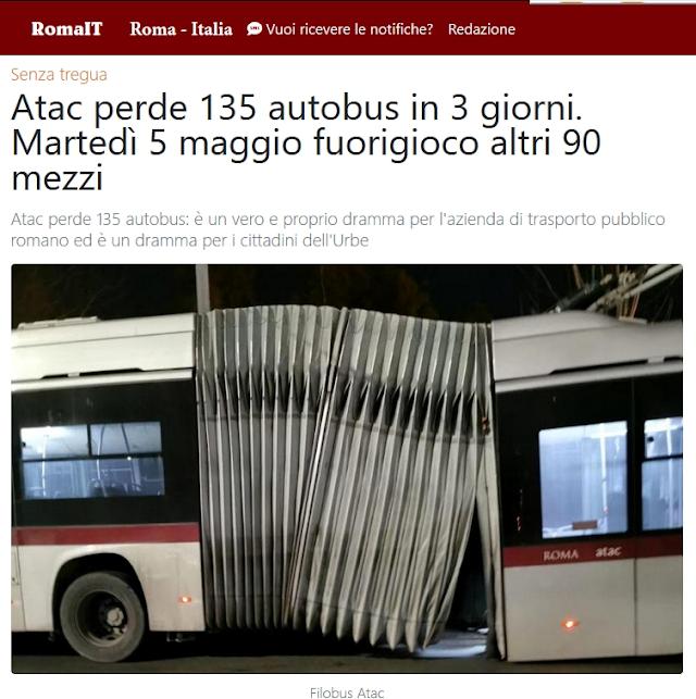 Situazione del trasporto pubblico di Roma di martedì 5 maggio