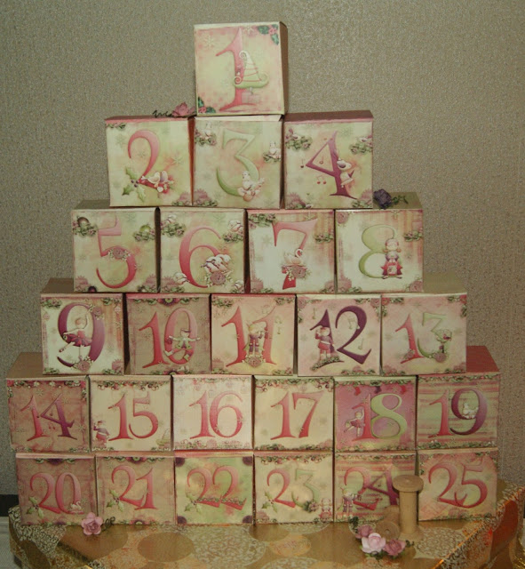 Advent Calendar idea with free box template