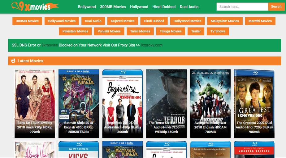 9xmovies Movies Downloading Website
