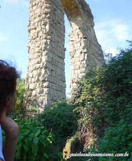 Parque dos Aquedutos, guia brasileira em Roma