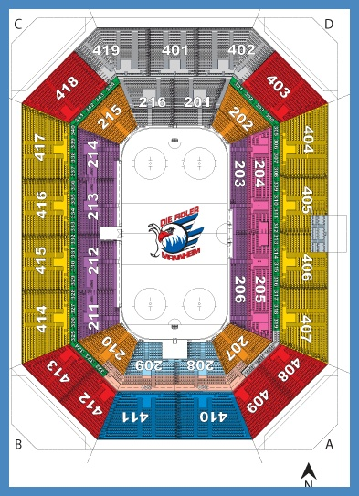 Sap arena sitzplan Elegant Sitzplan Saalplan der SAP Arena in Mannheim – Sitzplan