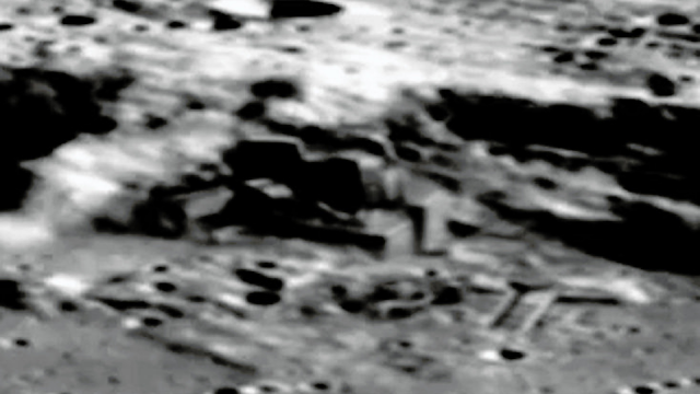 This is the picture of a base on the Moon.