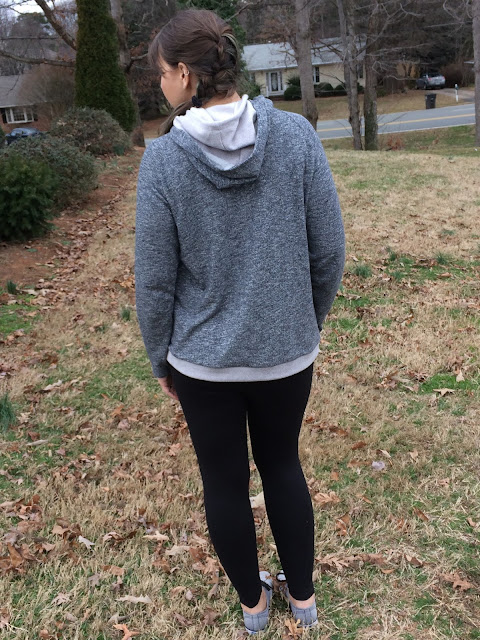 A hooded sweatshirt and leggings is perfect for working out at the gym, running errands, or a day of shopping with the girls!