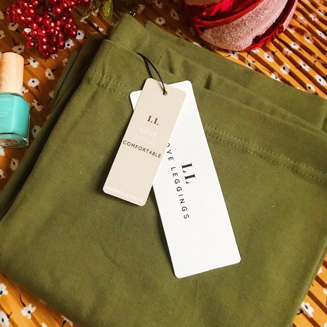 Love Leggings green khaki leggings