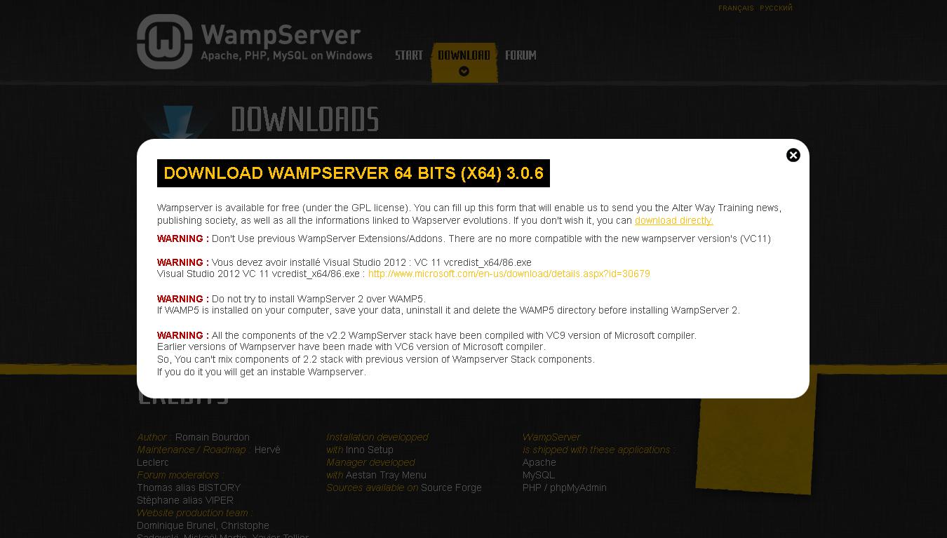 WAMPSERVER BITS 3.0.6 64 TÉLÉCHARGER (X64