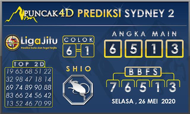 PREDIKSI TOGEL SYDNEY2 PUNCAK4D 26 MEI 2020