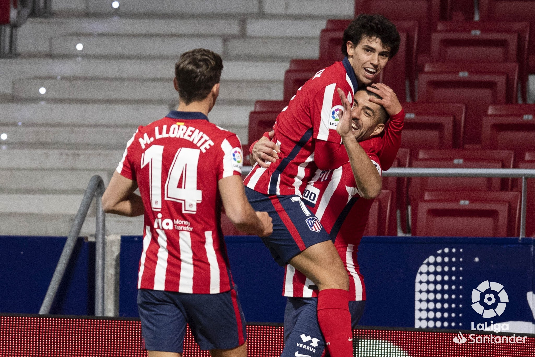Atletico Madrid will look to continue their charge for the La Liga title