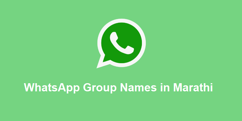 100+ New WhatsApp Group Names in Marathi