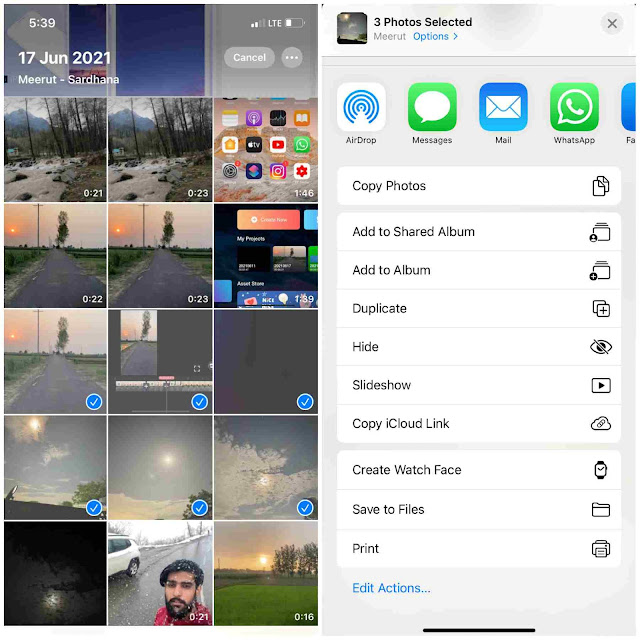 Hide media from Photos app on iPhone