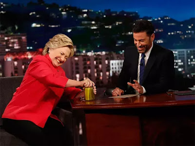 Video of  Hillary Clinton Prove She's in Good Health to Be President by Opening a Jar of Pickles