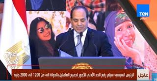 الحد الادنى للاجور فى مصر