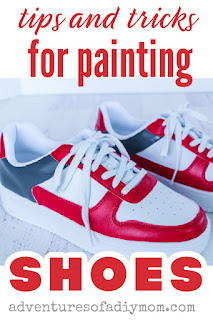 red, grey and white painted shoes