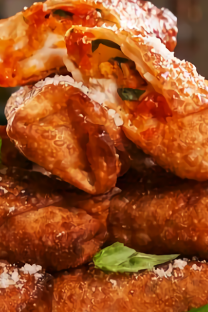 Chicken Parm Egg Rolls Recipe