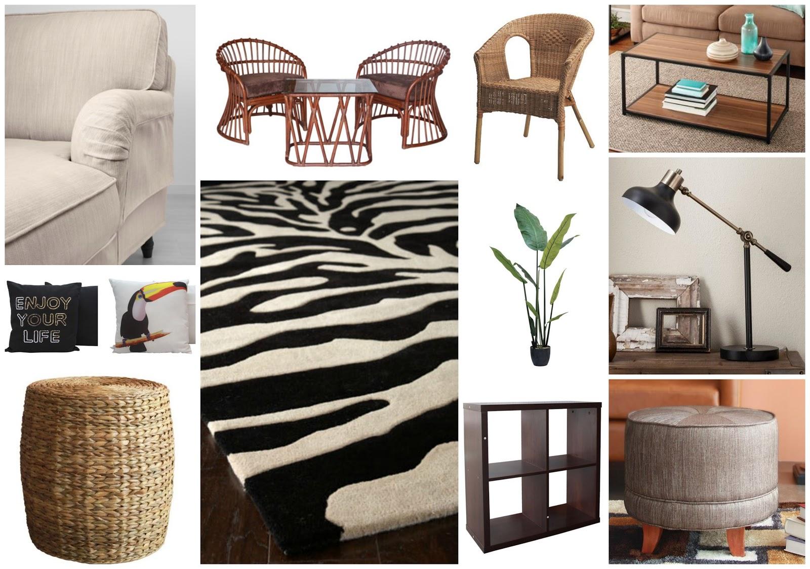 Safari Tropical Living Room Interior Ideas A Glad Diary