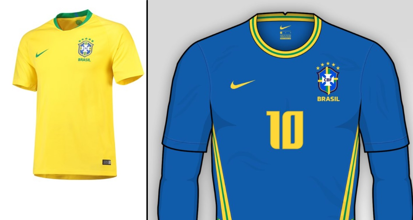 Brazil Home and Away kits for Copa America 2020
