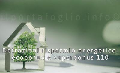 detrazione risparmio energetico ecobonus superbonus