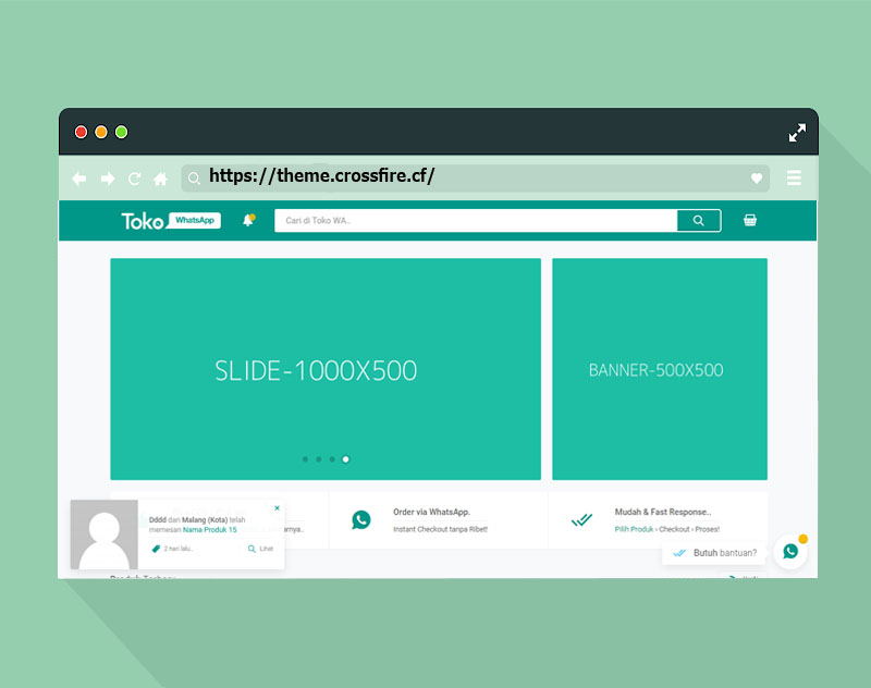 TokoWhatsApp Wordpress Online Templates - Responsive Blogger Template