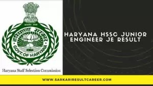 Haryana-HSSC-Junior-Engineer-JE-Result
