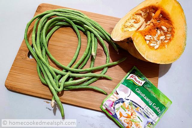 Ginataang Sitaw at Kalabasa, Knorr Ginataang Gulay Complete Recipe Mix