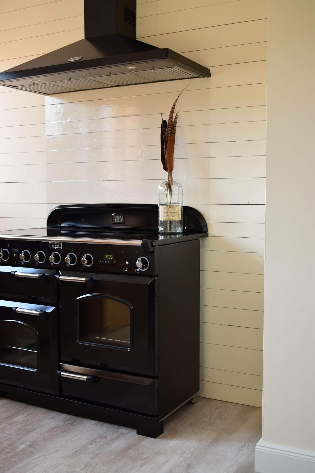 Spritzschutz Küche DIY selber machen Schutzfolie Falcon Ranke Cooker Herd nostalgisch Nostalgie