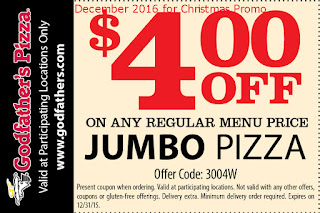 free Godfathers Pizza coupons december 2016