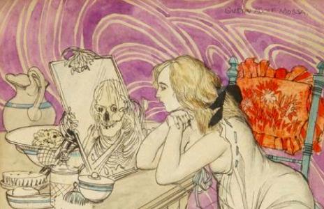 L 39 imaginerie de nina la jeune fille au miroir for Venus au miroir