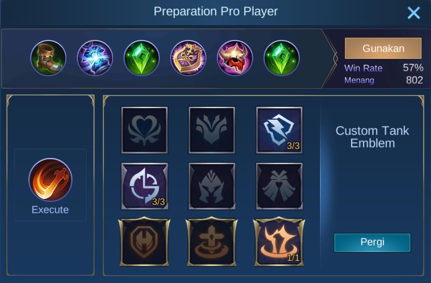 build item gatotkaca mobile legends (ML)
