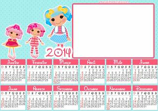 calendario Lalaloopsy Para Imprimir Grátis