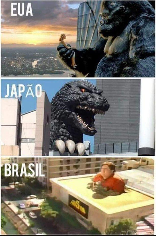 Cada país tem o seu monstro gigante que merece