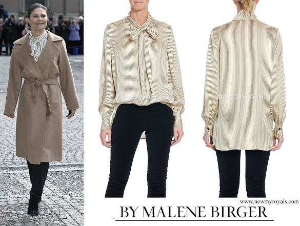 Crown Princess Victoria wore BY MALENE BIRGER Aluda Blouse