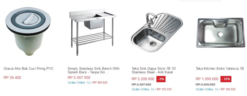Exciting sink stainless steel bekas gallery simple for Kitchen set bekas
