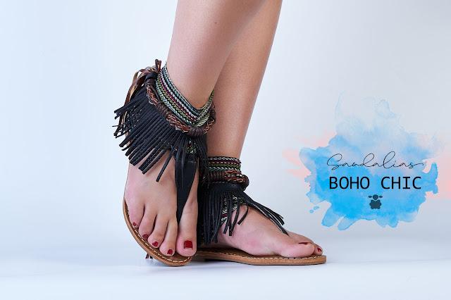 Sandalias bohemias en color negro