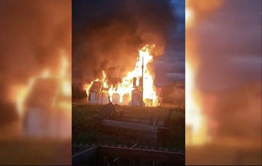 crime arson Canada church religious liberty persecution neopaganism aboriginal indigenous