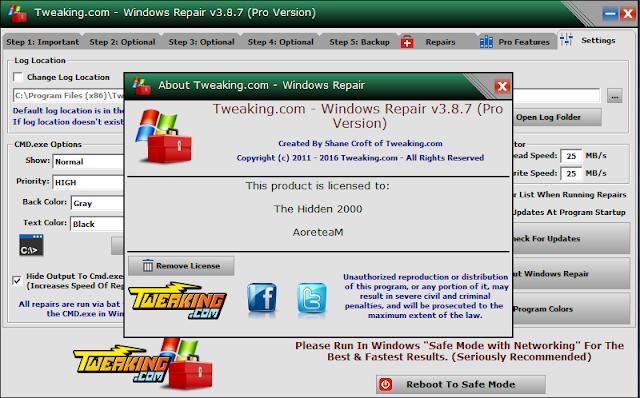 Tweaking.com - Windows Repair Pro