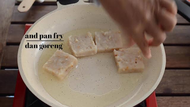 pan fry turnip cake