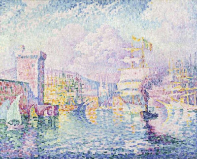 La Tour Rose, Marseille. - Paul Signac