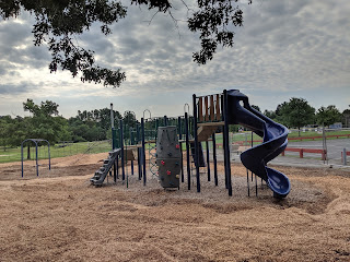 the slide combo was already at the same playground at the King St Memorial Fields
