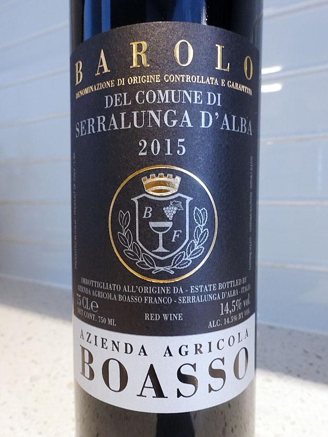 Boasso Barolo del Comune di Serralunga d'Alba 2015 (91 pts)