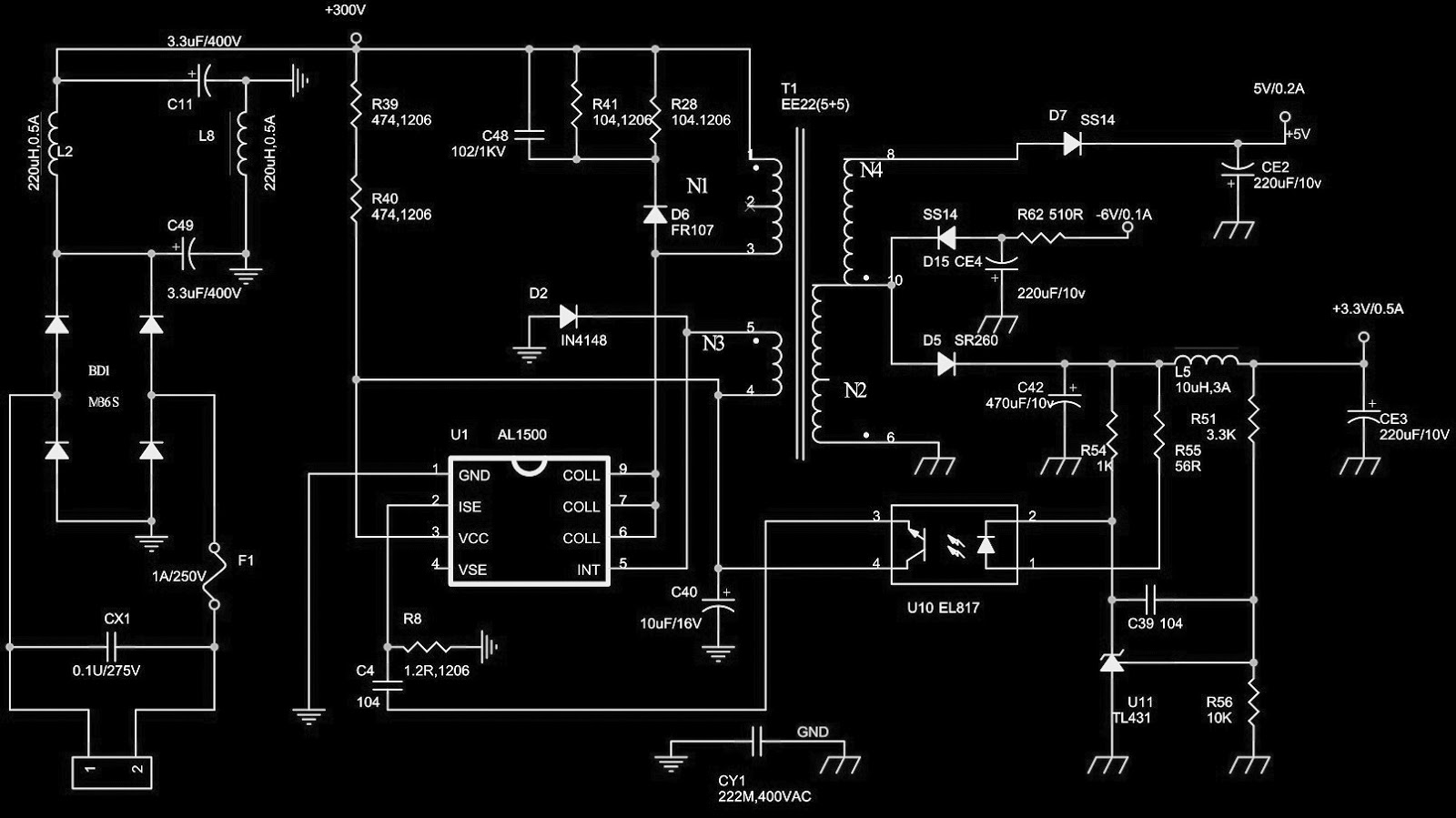 Dvd Player Power Supply Circuits And Troubleshooting Viper22a Smps Circuit Diagram Click On The Pictures To Zoom In