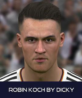 PES 2017 Faces Robin Koch by Dicky