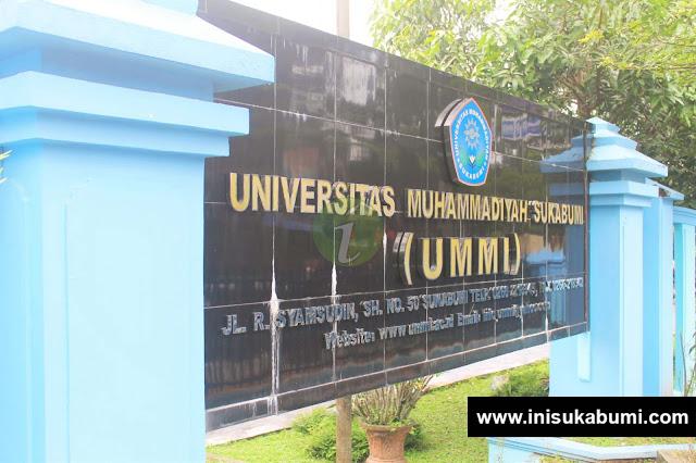 Plang nama Universitas Muhammadiyah Sukabumi