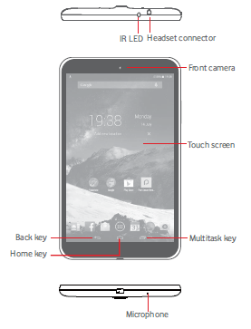 Vodafone Smart Tab 4G Phone Layout