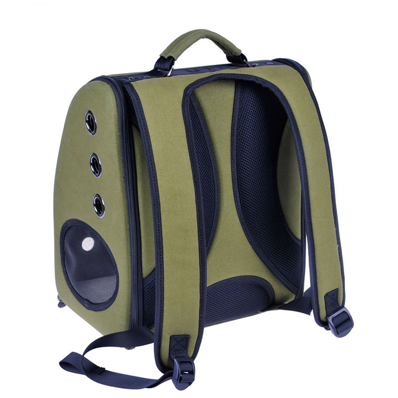 896217a4863 A stylish backpack carrier for your cat or small pet from U-Pet. The  carrier comes with a removable semi-sphere window that allows your pets to  enjoy the ...