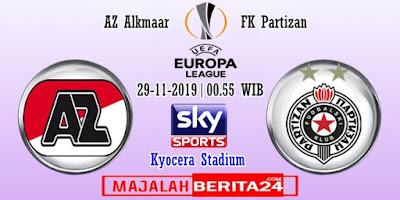 Prediksi AZ Alkmaar vs FK Partizan — 29 November 2019