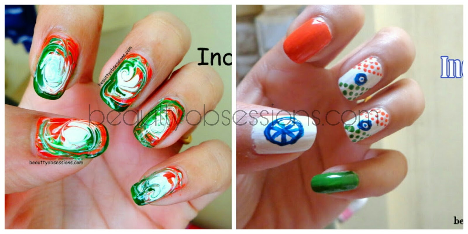 Indian independence day inspired nailart step by step tutorial hope you enjoyed this easy to create independence day inspired nailart see you soon with some more amazing creations prinsesfo Image collections