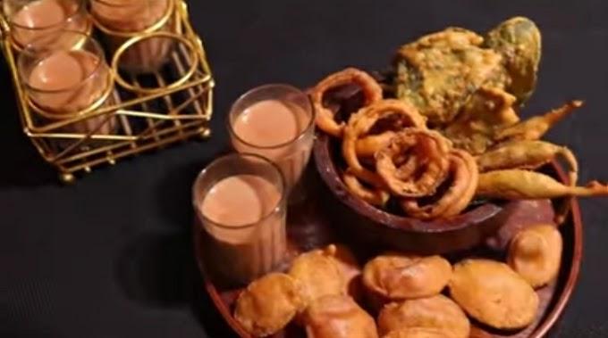Monsoon Recipes Tea and Pakode