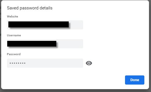 password details