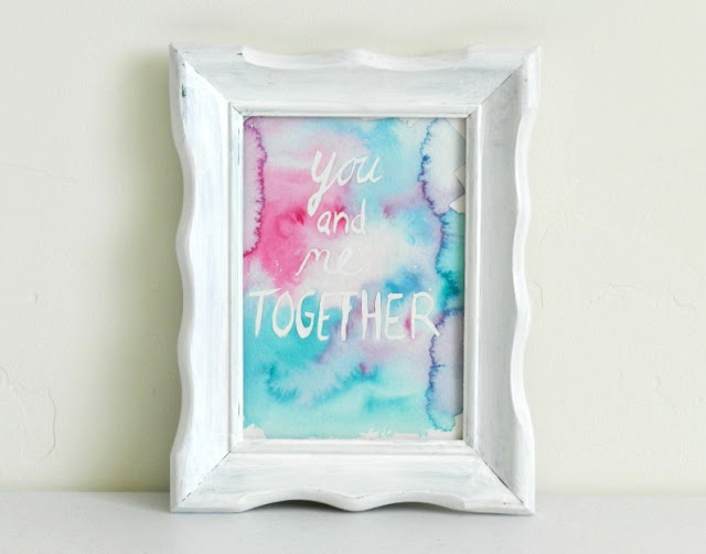 you and me watercolor lettering: growcreative